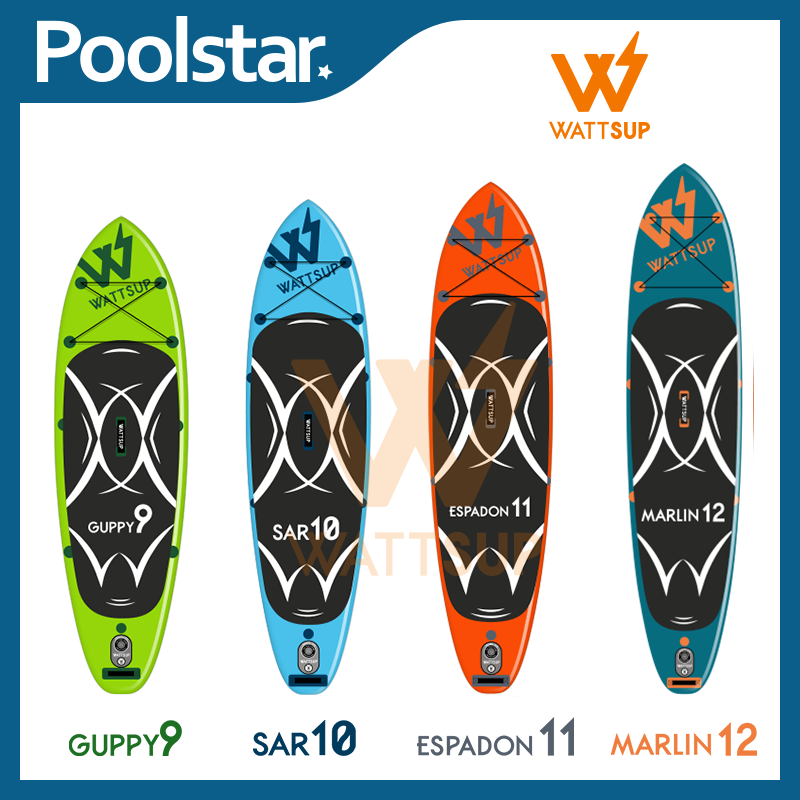 Inflatable Stand-up Paddles of the brand WATTSUP - with Drop Stich Technology
