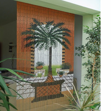 Durable Eco-friendly bamboo door curtains/ hanging painted bamboo door curtain