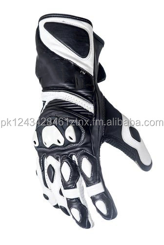 Advanced Touch Screen Long Cuff Leather Motorcycle Gloves