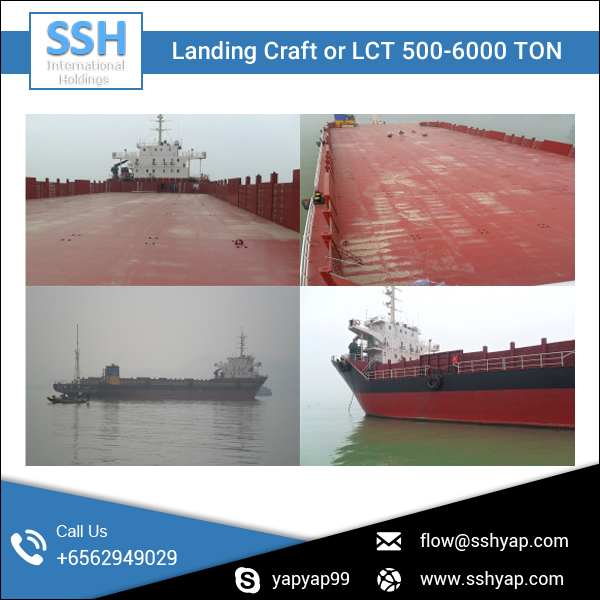 Professionally Seller of High Capacity LCT/ Landing Craft for Sale