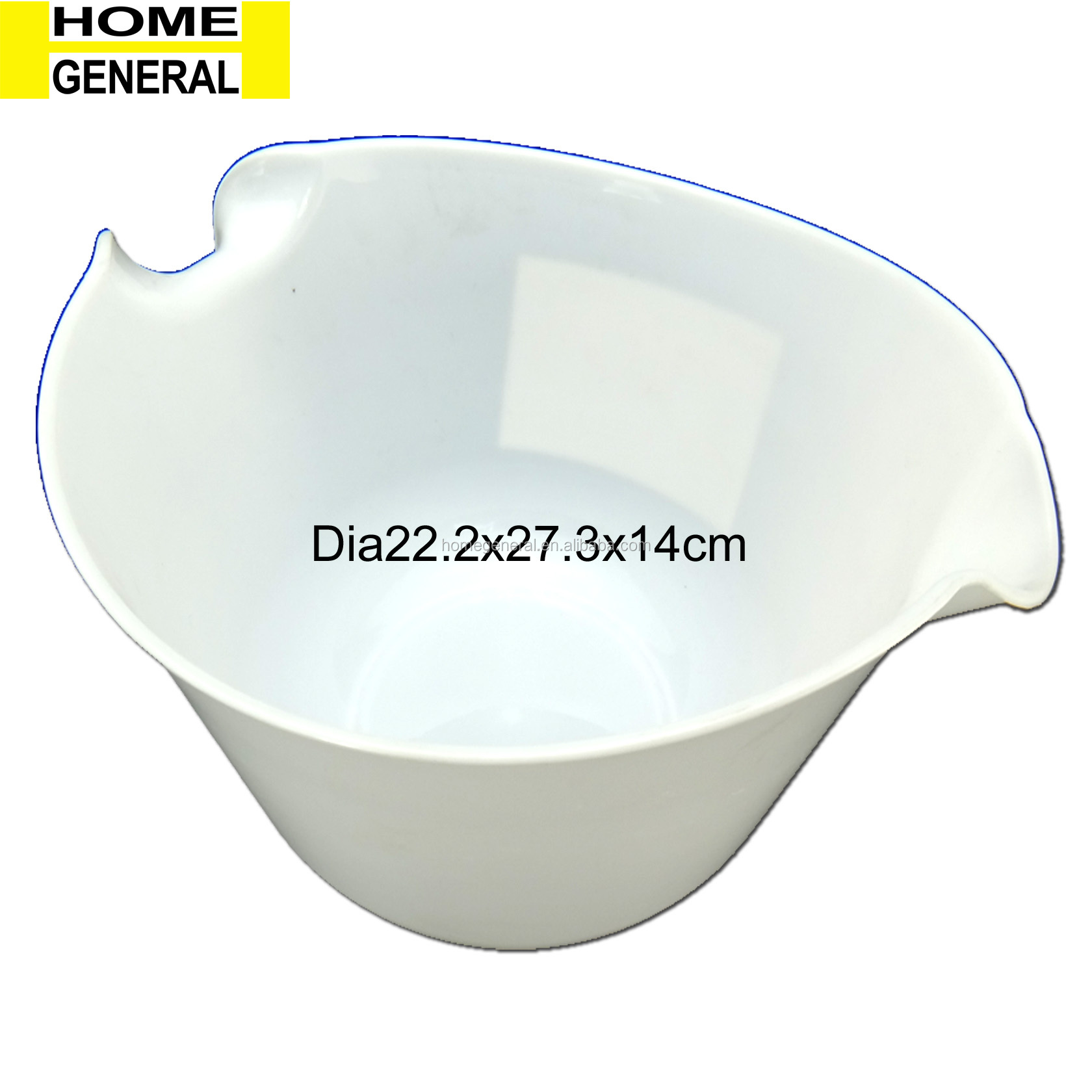 KITCHEN GENERAL, MIXING BOWLS WITH RUBBER GRIP HANDLES EASY POUR SPOUT AND NON SLIP BOTTOM