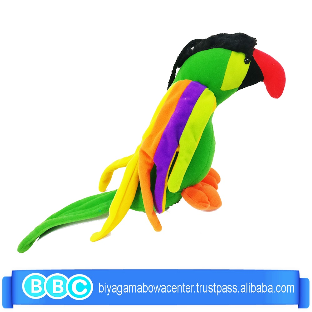 hot best promotional green Plush Toy Parrot High quality gift