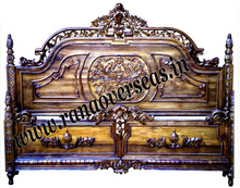High End Wooden Hand Carved Double Bed