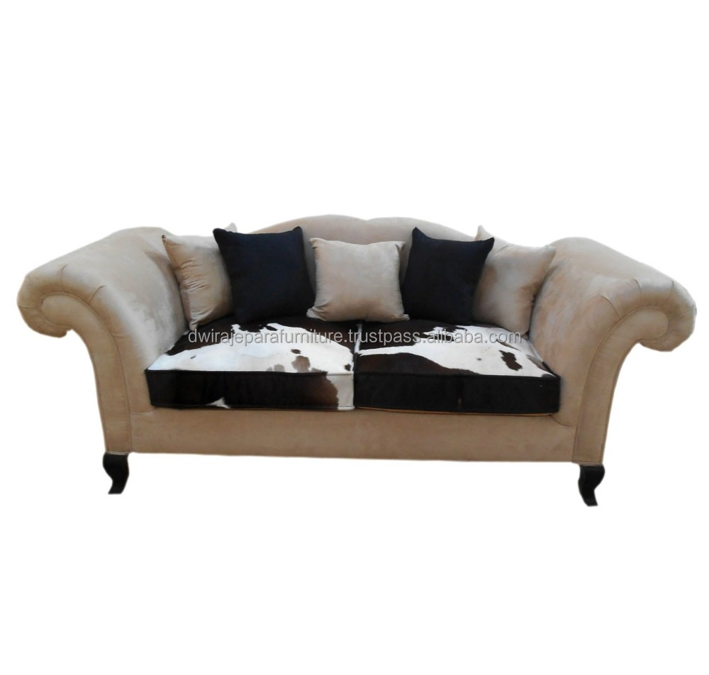 Classic Jepara furniture french leather Sofa made by jepara furniture Manufacturer.(Only For Serious Buyer ).