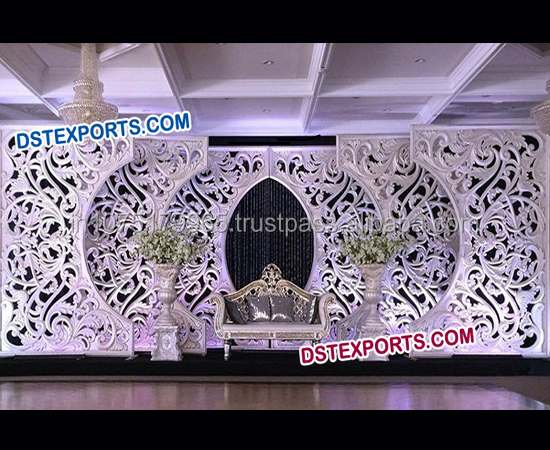 Wedding Stage C Style Fiber Backdrop Frames/Flower Carving Wedding Silver Backdrop Panels/2016 New Model C Style Wedding Panels