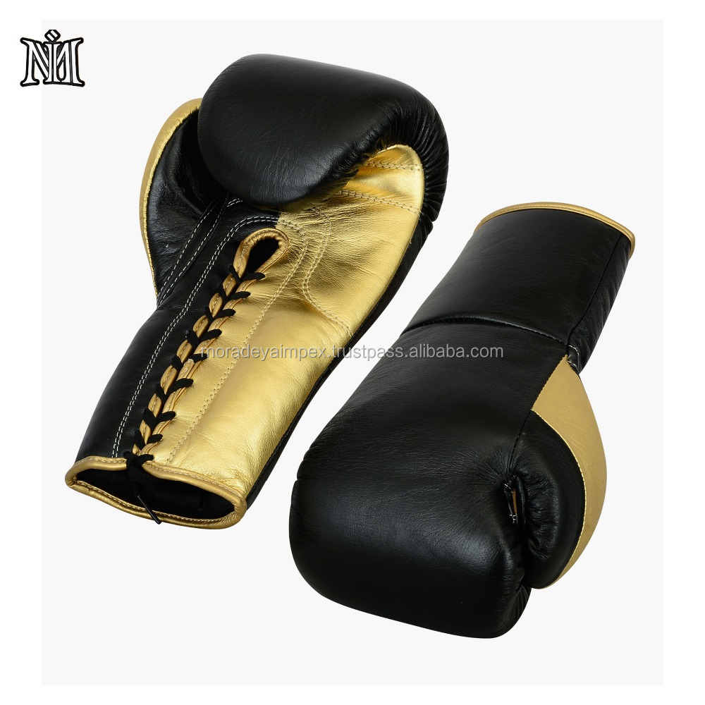 Hot sale customized PU and leather boxing gloves for mans boxing game