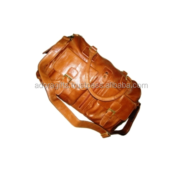 Premium Fashionable Genuine Leather Travel Bag/Genuine leather Traveling Bags For Sale from China