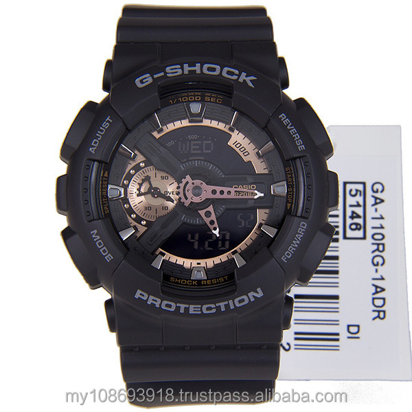 GA-110RG-1A Black & Rose Gold Mens Watch