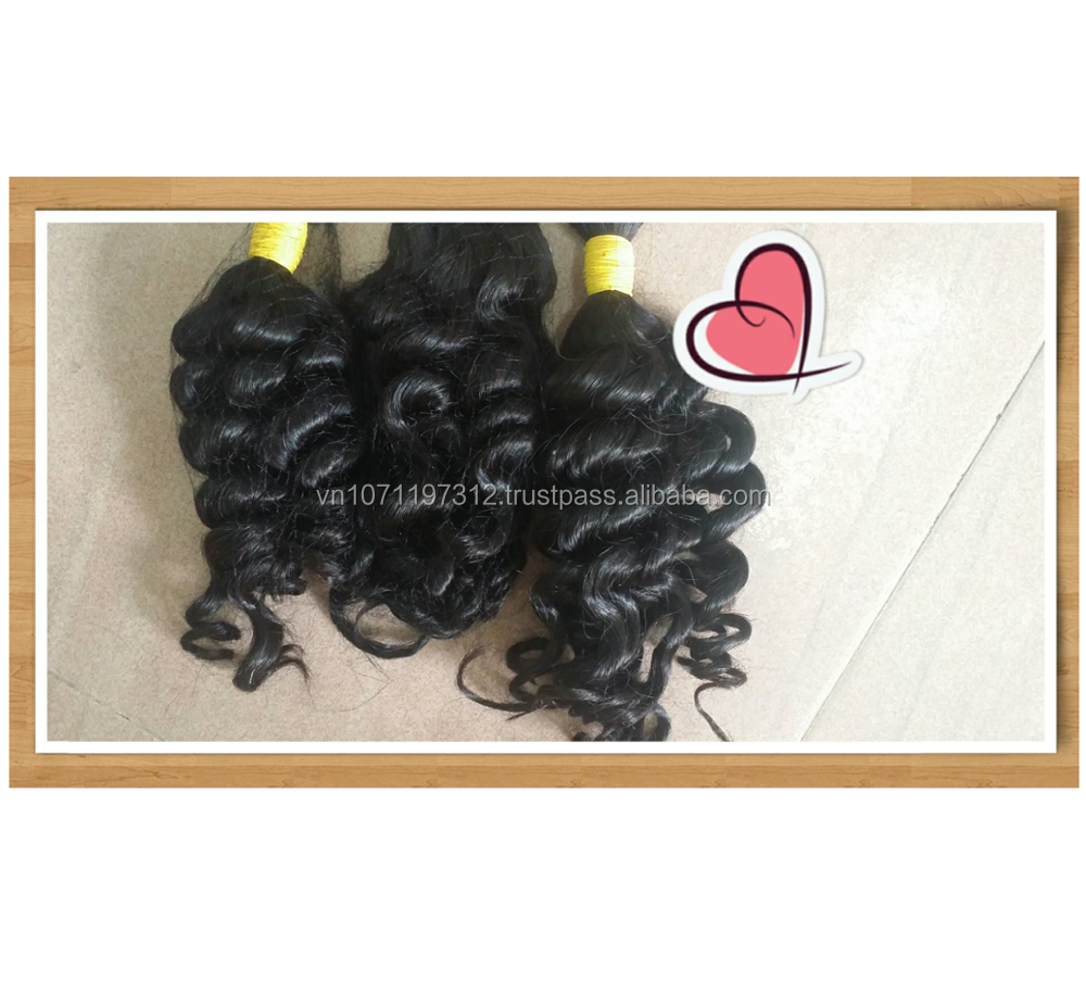 Bulk hair Vietnamese virgin hair,hair weaving , Vietnamese virgin hair bundle