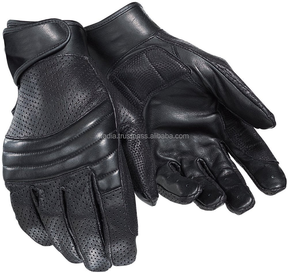 Leather fashion gloves for biking