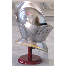 Deluxe European Closed Helmet, Medieval Armour Helmet, Closed Knight Armor Helmets