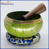 Handmade Green Tibetan Singing Bowl Metal