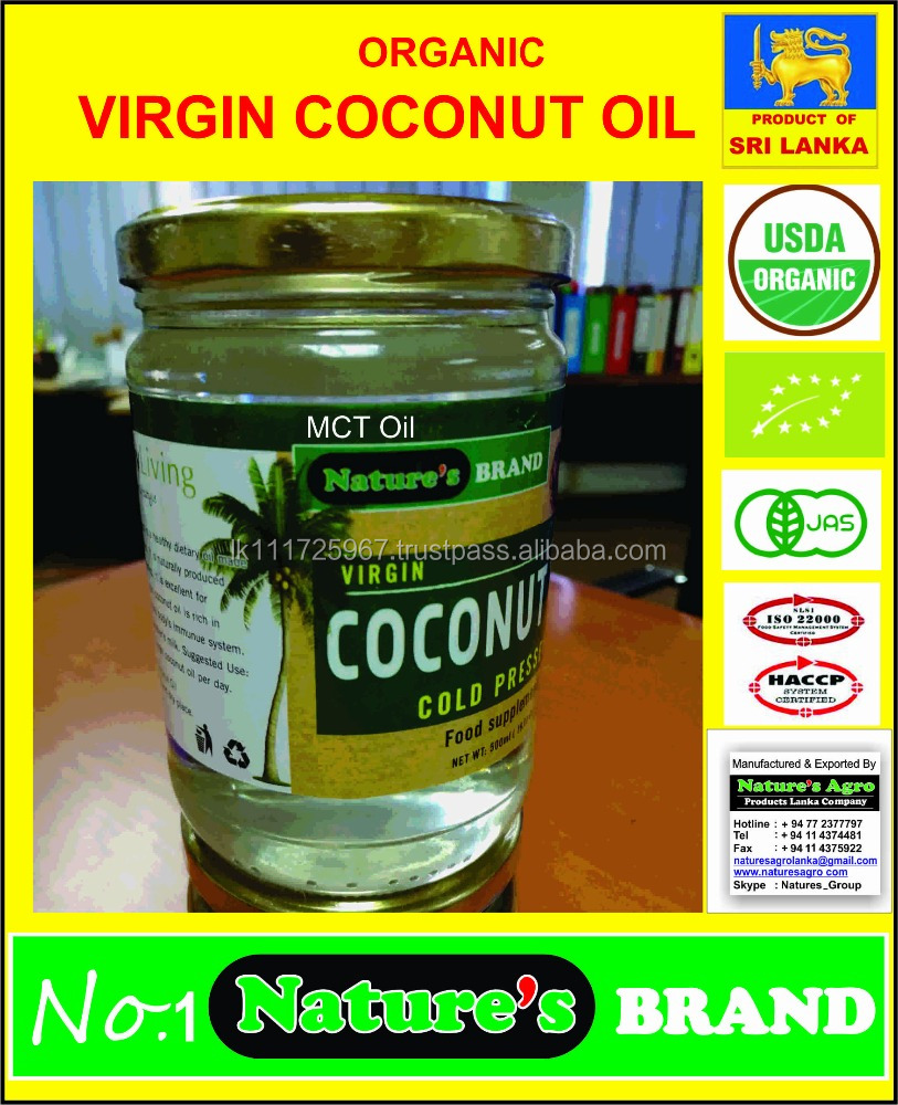 VIRGIN COCONUT OIL from SRI LANKA- ISO 22000 CERTIFICATED FACTORY-ORGANIC EU/USDA/JAS/KOREAN Organic