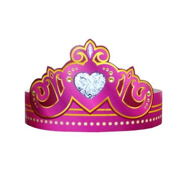PRINCESS PAPER BIRTHDAY PARTY CROWN FOR FEMALE PARTY FAVOR DECORATION SUPPLIES