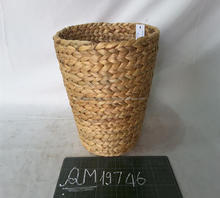 100% natural water hyacinth flower basket hot selling wicker food basket eco-friendly bamboo paper waste basket