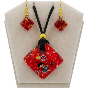 Murano Glass Parure Jewelry Set bijoux ASSORTED COLORS--------------------------MADE IN ITALY