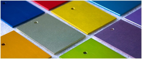 Anodised aluminium sheet
