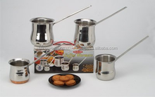 Metal Milk Heating Set Stainless Steel Coffee Warmer Pot