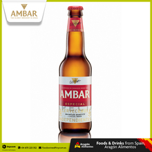 Lager Beer from Oldest Brewery in Spain Wholesale | AMBAR ESPECIAL Bottle 25cl, 33cl (24 units) | La Zaragozana