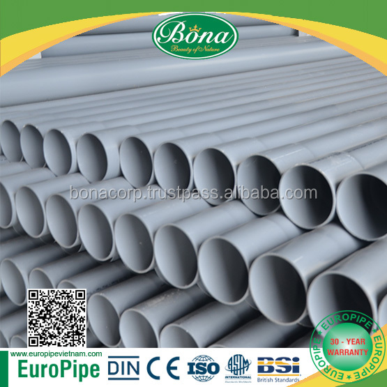 2017 HOT! HOT! HOT! 30 YEAR WARRANTY UPVC pipe, PVC Pipe and PVC PIPE FITTINGS