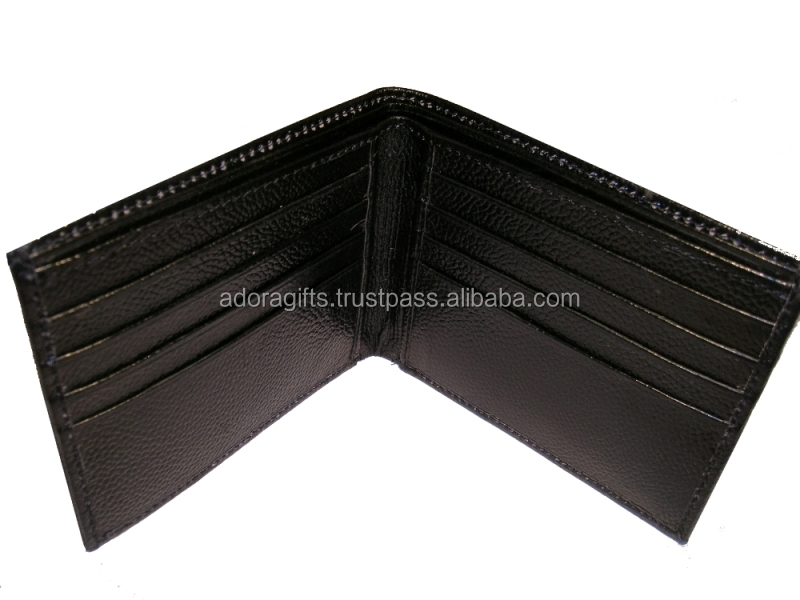 Black color leather mens wallet