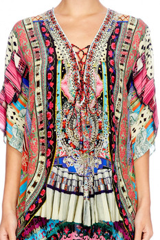 Short Pattern Kaftan Top