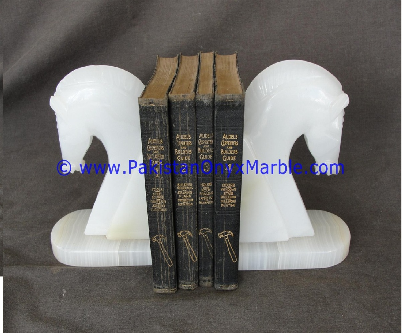 High Quality Wholesale Onyx Bookends Horse Head Shape