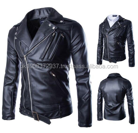 Black Leather Jacket In Men | Dress