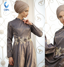 2018 Fashion New Design Islamic Clothing Muslim Dress Evening Smoked 701241