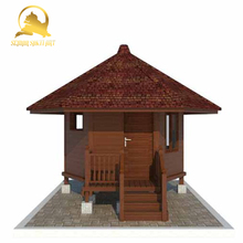 Indonesia Premium Teak Wooden Prefabricated House for Resort, Home, Hotel