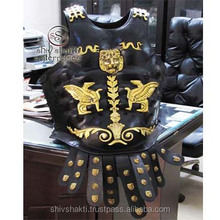 MEDIEVAL ROMAN MUSCLE ARMOR CUIRASS BLACK ANTIQUE FINISH MUSCLE ARMOR APRON BELT HALLOWEEN COSTUME