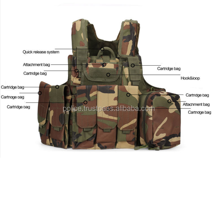 TV-CA-08 Multifunctional eight piece set tactical vest for outdoor equipment