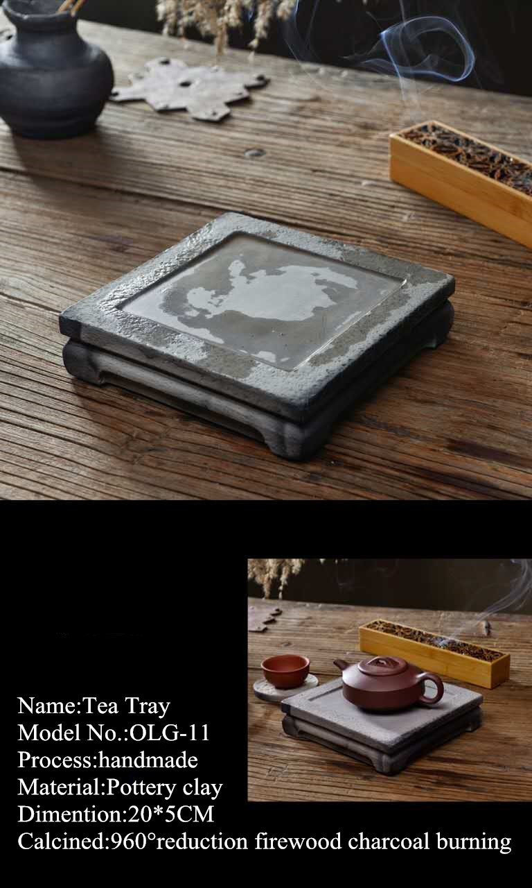 furniture accessories 100% pure hand-made clay tea tray