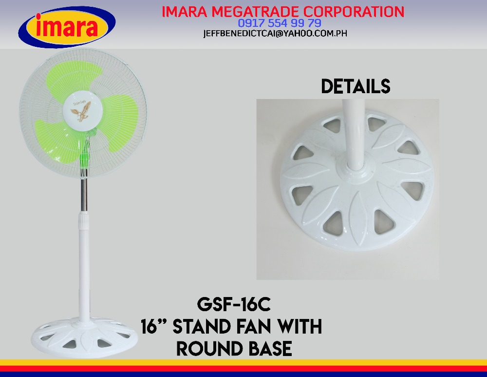16 inch knob contral stand fan