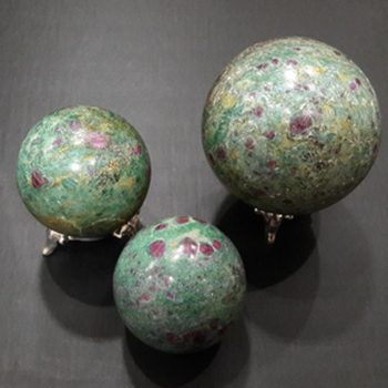 Ruby Zoisite Agate Ball : Wholesale Agate Gemstone Ball