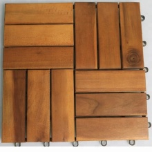 interlocking outdoor deck tiles garden solid acacia wood flooring with plastic base