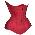 Red Cotton Curv Short Regular Extended Length Steelbones waist training custom Corsets supplier from cosh in pakistan