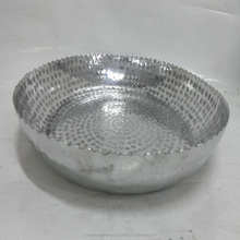 Aluminum Decorative Bowl With Small Hammered With Polish Finish