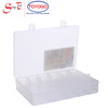 Translucent Industrial Storage Case with 16 compartments and small handles (2916)