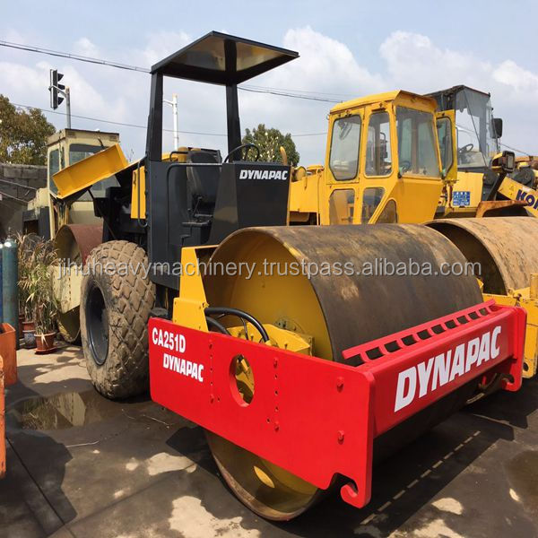 used dynapac ca251 used vibration roller compactor ,steel wheel vibratory roller