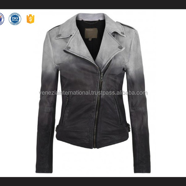 Spring and autumn men's shinny PU leather jacket