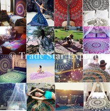 Wholesale indian printed tapestries cotton beach throw wall hangings mandala tapestry
