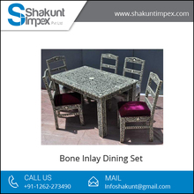 Attractive Style Bone Inlay Dining Set at Affordable Rate