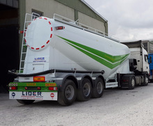 50 Tons V Type Bulk / Dry / Powder Cement Semi Trailer