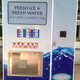 cube ice vending machine with payment system work in coin with auto bagging and sealing