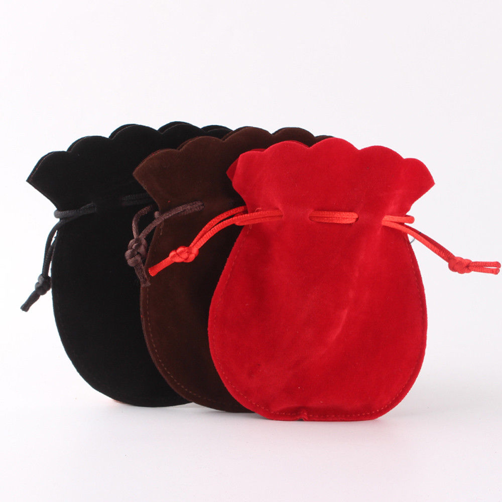 12Pcs Gourd Velvet Bags Jewelry Wedding Party Gift Drawstring Pouches Organizer