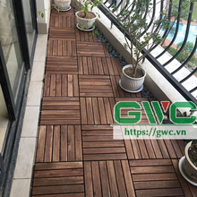 Acacia Wooden Floor /Interlocking DIY Deck Tile 2018 New Design