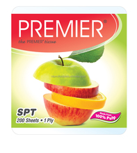 Premier Single Pull Pop Up Small Tissue Packs Facial Tissue Single Ply 200 sheets