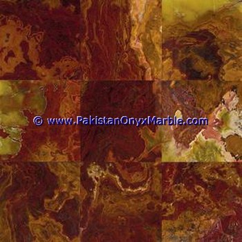multi red onyx polished tiles