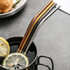 Beveled angle pipe straight metal straw for drinks